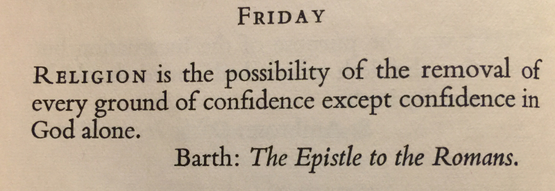 Karl Barth- Epistle to the Romans 1st Friday in Advent
