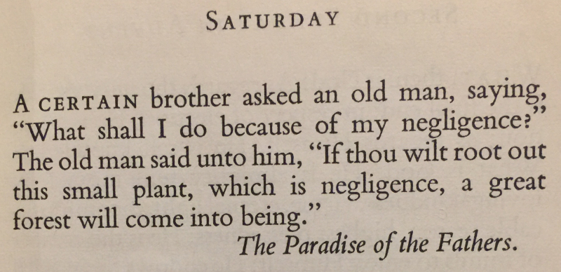 The Paradise of the Fathers - 1st Saturday in Advent