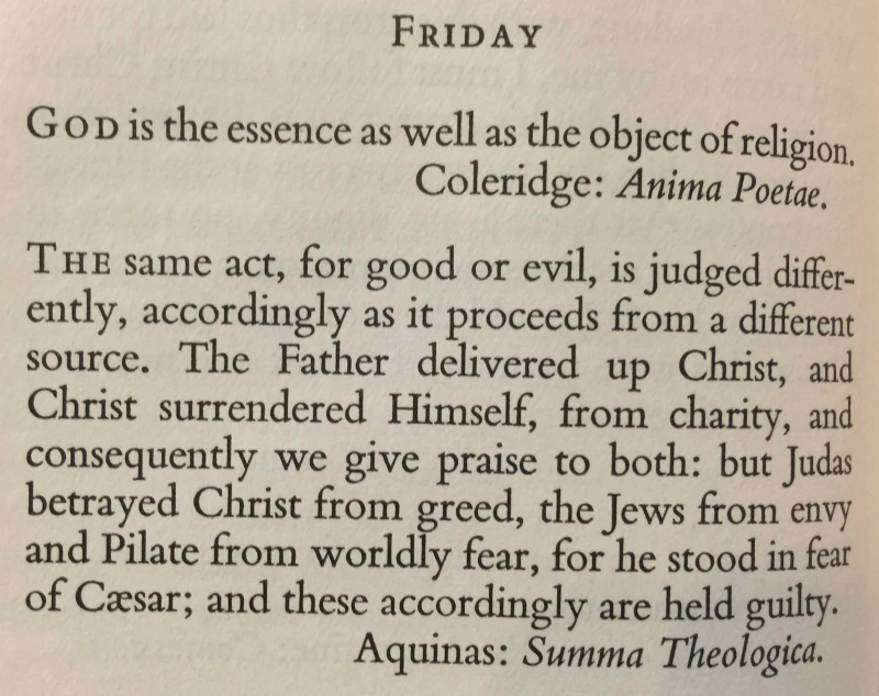 5th Friday in Lent (March 31st  2017)