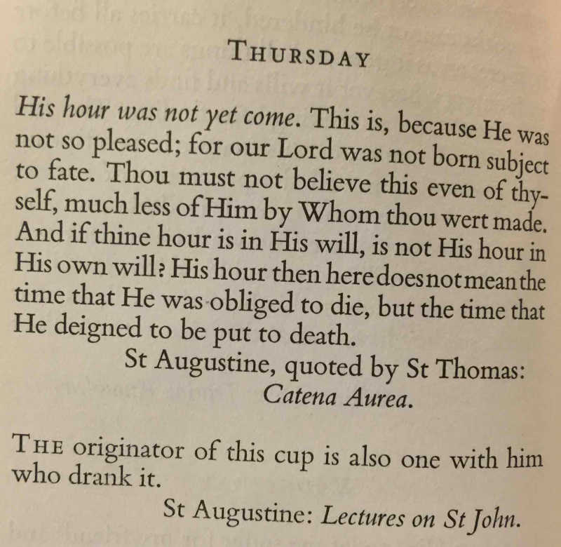 6th Thursday in Lent (April 6th  2017)