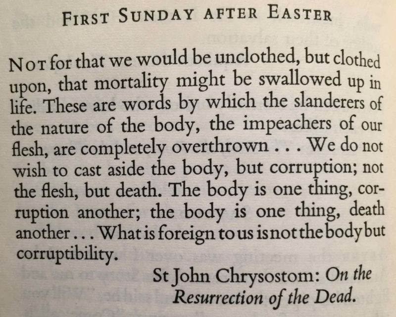 First Sunday After Easter (April 23rd  2017)