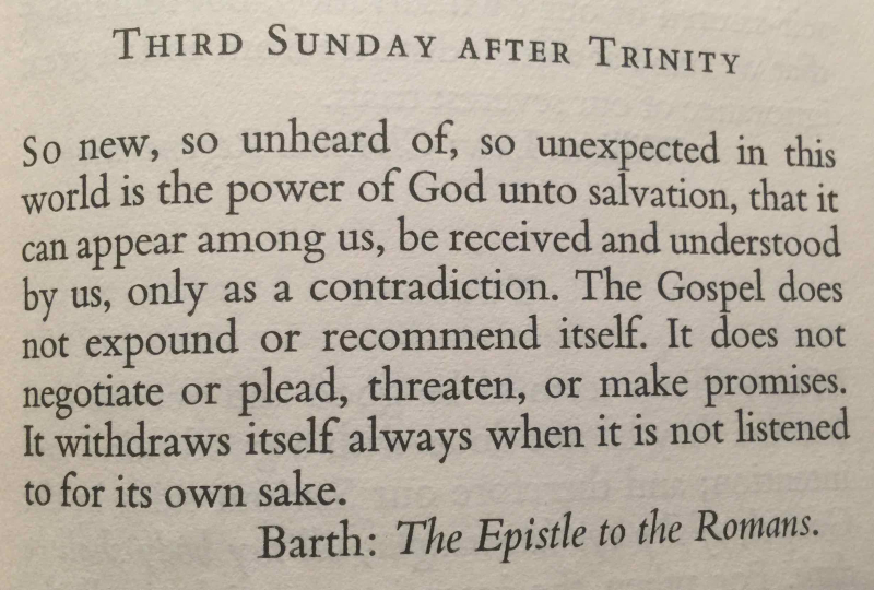 Third Sunday after Trinity (July 2nd  2017) quote 2