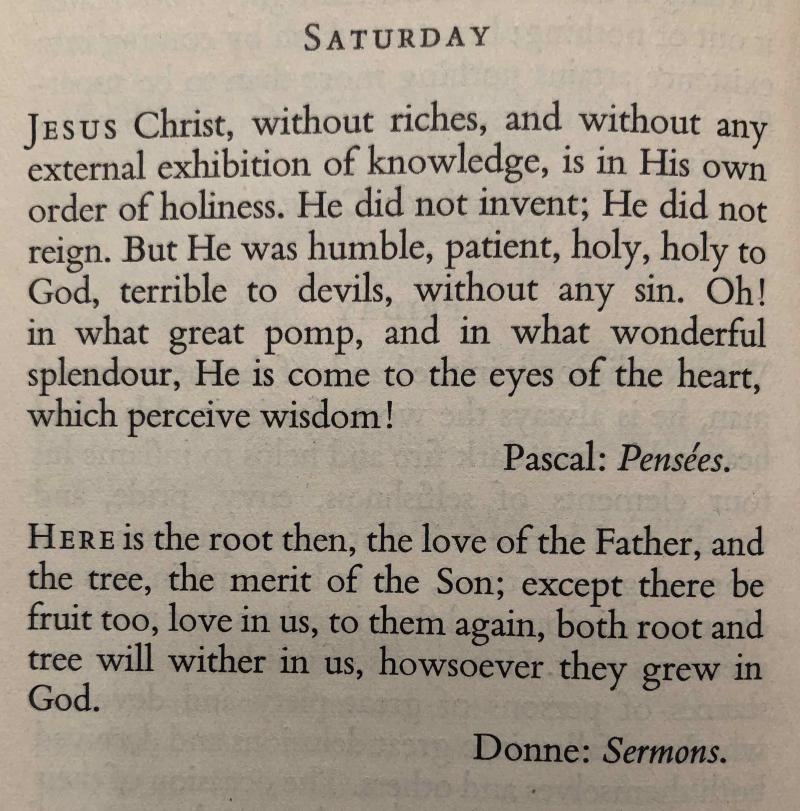 21st Saturday after Trinity (November 4th  2017)