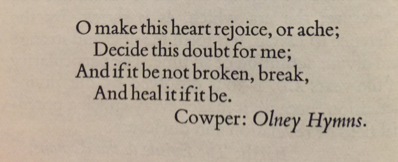 Cowper- Olney Hymns 1st Thurs in Advent
