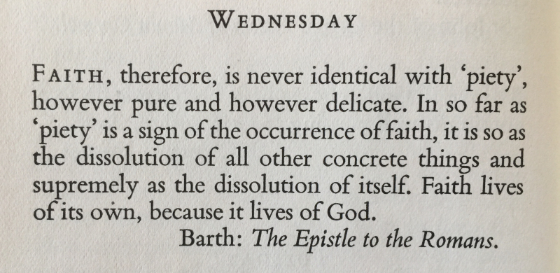 2nd Wednesday in Advent Karl Barth