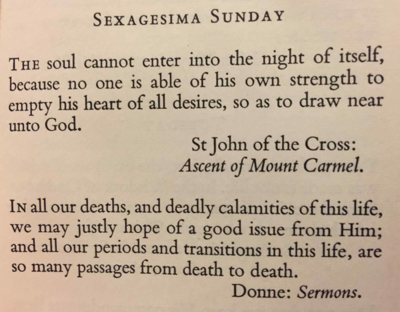 Sexagesima Sunday (February 19th, 2017) exported