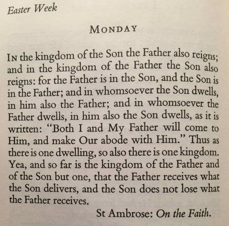 Easter Week Monday (April 17th  2017)