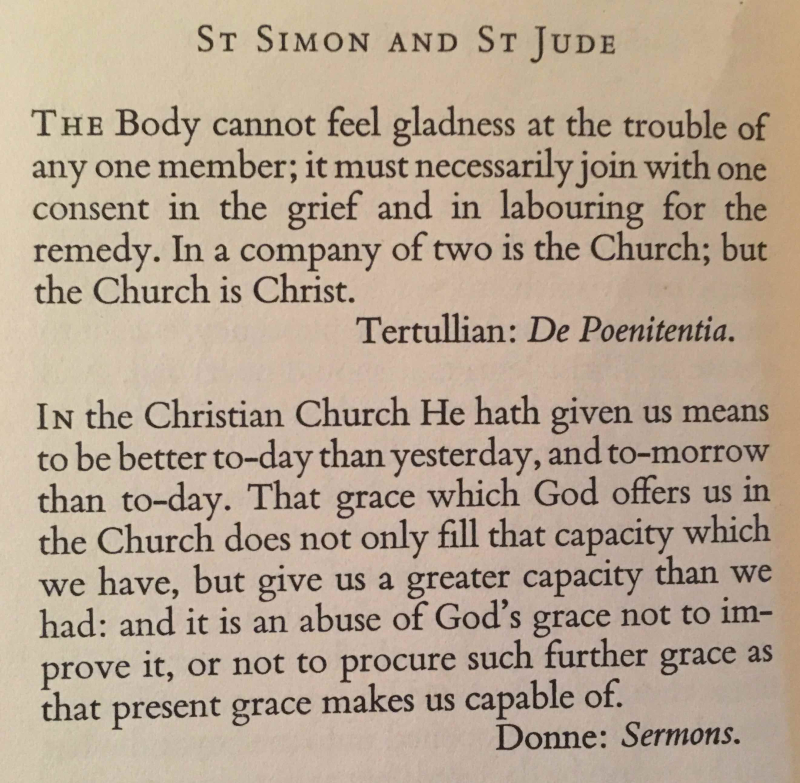 The Feast of St. Simon and St. Jude (October 28th  2017)