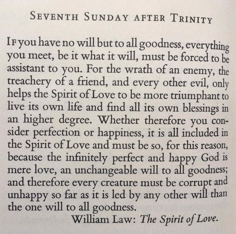 Seventh Sunday after Trinity (July 30th  2017)