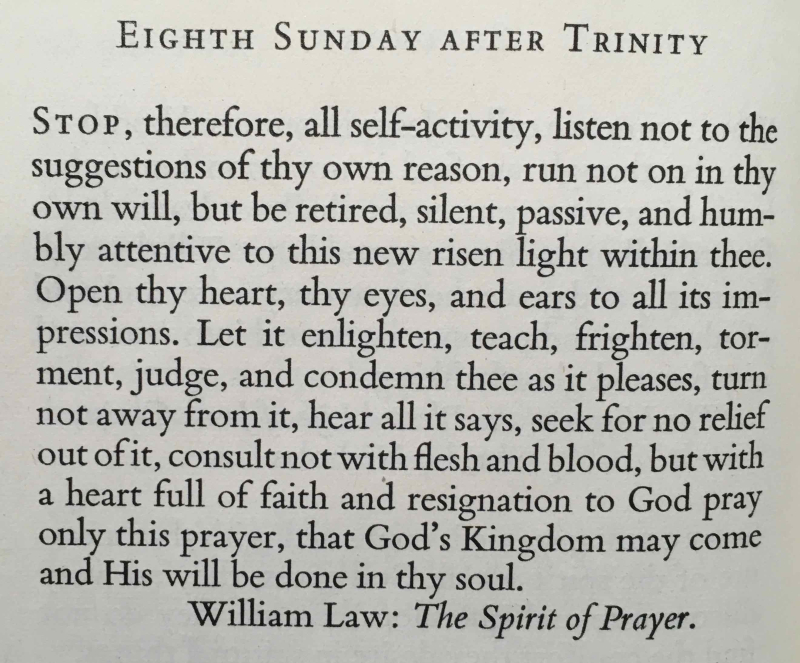 Eighth Sunday after Trinity (August 6th  2017)