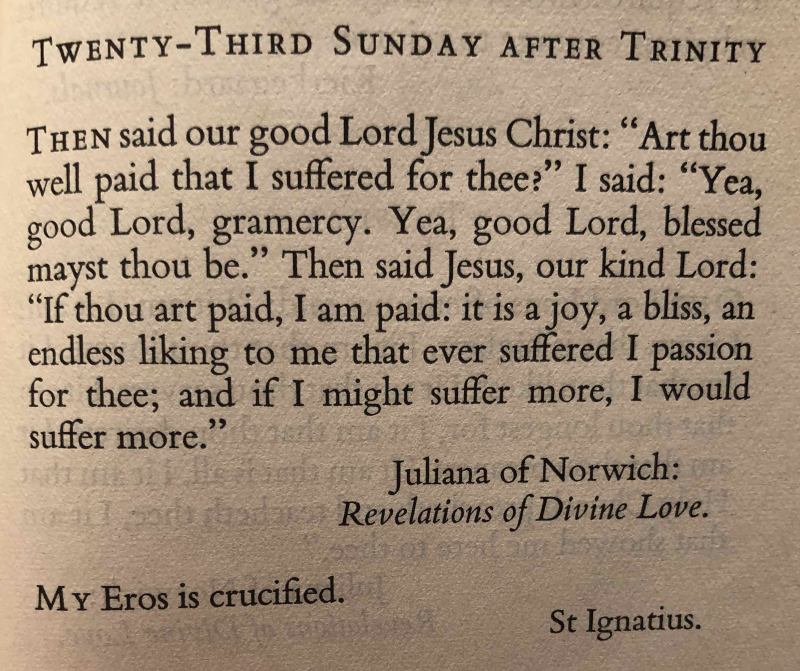 Twenty Third Sunday after Trinity (November 19h  2017)