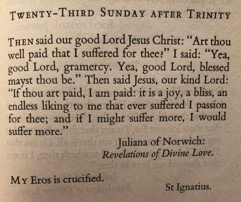 Twenty Third Sunday after Trinity (November 19h  2017)