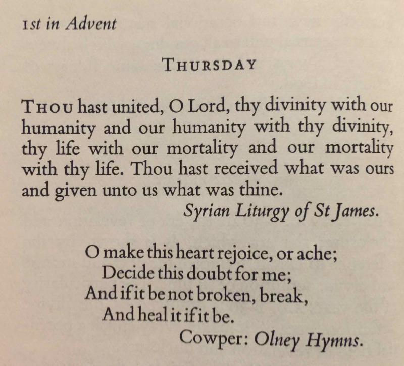 1st Thursday of Advent