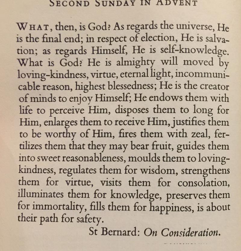 St. Bernard- On Consideration Second Sunday in Advent