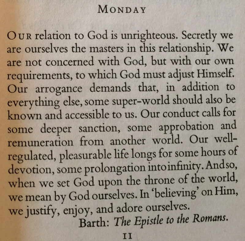3rd Monday in Advent Karl Barth