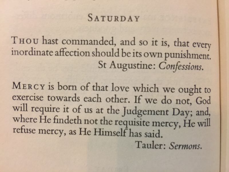 5th Saturday After The Epiphany (February 11th, 2017)