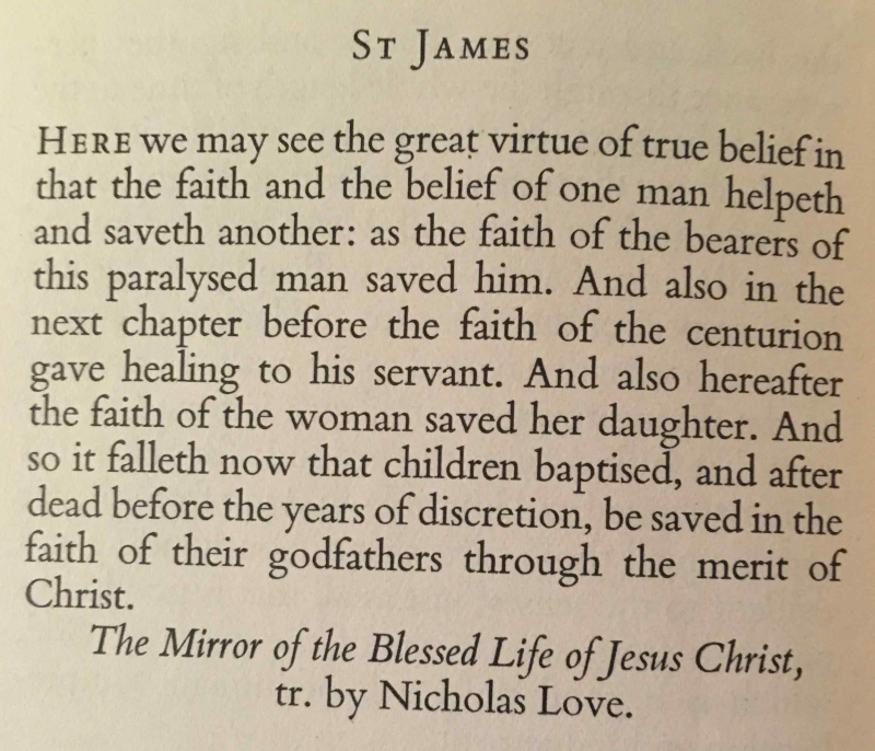 The Feast of St. James (July 25th  2017)