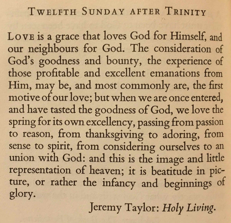 Twelfth Sunday after Trinity (September 3rd  2017)