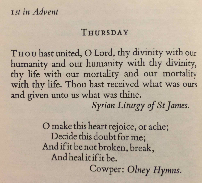 1st Thursday of Advent