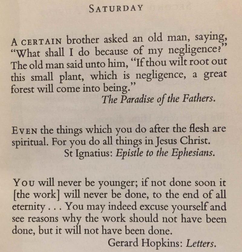 1st Saturdat of Advent