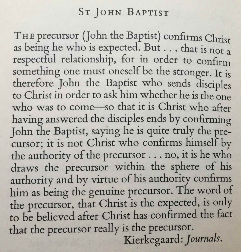 Feast of the Nativity of St. John  The Baptist (June 24th  2017)