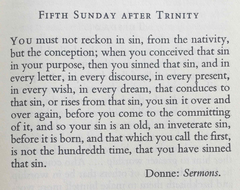 Fifth Sunday after Trinity (July 16th  2017)