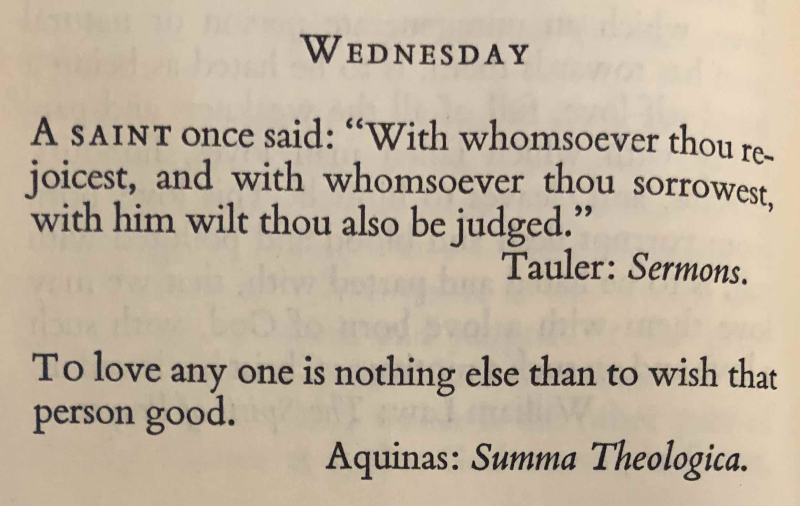 26th Wednesday after Trinity (6th after Epiphany trans.)