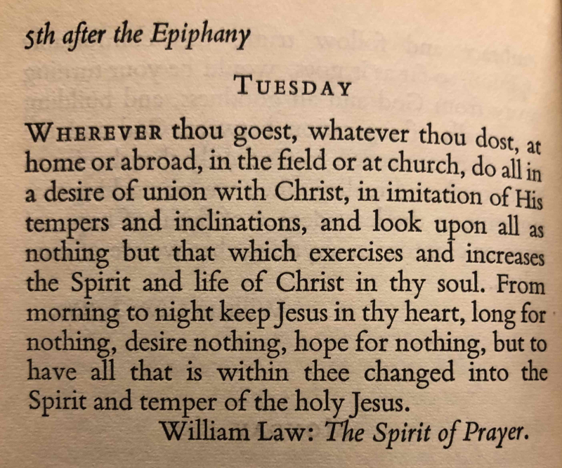 5th Tuesday after The Epiphany