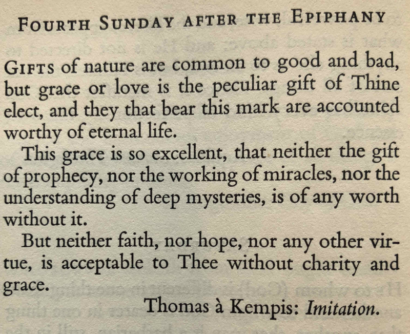 26th Sunday after Trintiy (Fourth after Epiphany trans.)