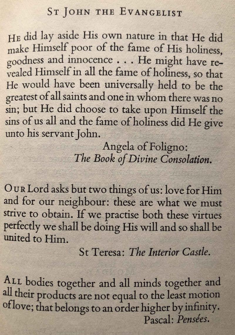 Feast of St. John the Evangelist