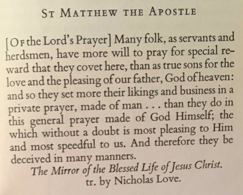 The Feast of St. Matthew the Apostle (September 21st  2017)