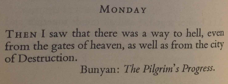 Monday after Christmas first quote bunyan final